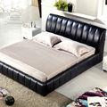 de cuero diseñada cama doble