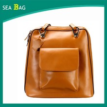 Women leather backpack,Lady travel backpack