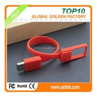 silica gel brecelet 8GB usb flash memory, red high speed usb flash drive