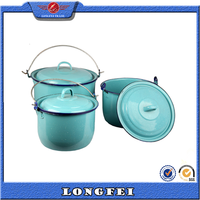 Blue color small water bucket with lid
