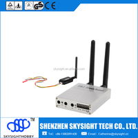 500mw 32ch fpv video wireless transmitter sky-N500 with D58-2 diversity receiver 1km wireless transmitter and receiver