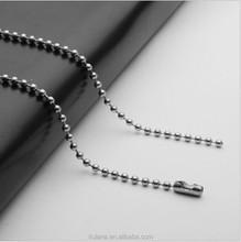 2.4mm wide Stainless Round Bead Chain Necklaces Designs