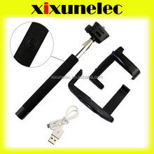 hand held extender For iPhone 5s monopod Wireless bluetooth Shutter handheld with Clip Holder for All Brand Phone and Camera