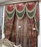luxury european style polyester window curtain with embroidery