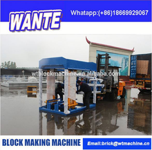 construction equipment QT4-15 concrete block making semi automatic machine price