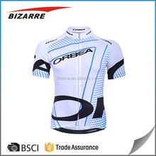 Customized sublimated bike white cycling jersey