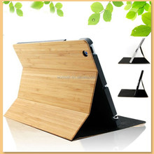 New arrival nature bamboo wood tablet case for ipad mini