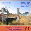 Deep well 1100W submersible Solar Water Pump with high speed brushless motor for agriculture irrigation