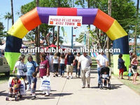 commercial advertising promotion inflatable amusement park brilliant rainbow arched entry & exit door