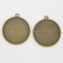 RS-1121T Factory outlet Double-Sided Patch,25mm bezel cameo setting, round jewelry pendant trays