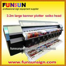 3.2m outdoor flex banner digital plotter ( 6head head, 6 color printing )