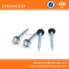 Hex Head Self Drilling Screw ,Zinc Plated,with Rubber Washer