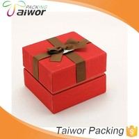Custom Design Square Red Ribbon Packaging Box Candle Gift Box