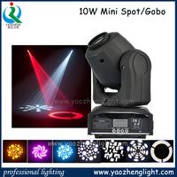 Mini Led Moving Head Spot With 10 watt Led Moving Head Gobo Light