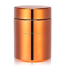 10oz/300ml Chromed/Metallized orange HDPE platic pill bottle