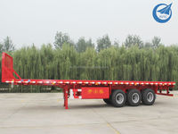 3 Axle 40Ft 40Ton Flat Bed Container Semi Trailer For Sale