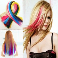 Fancy color of single strand clip hair extension