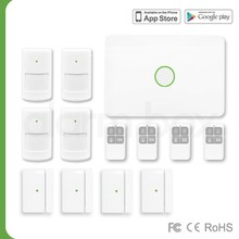 Elderly care products 2015 gsm alarm system with cigarette smoke detector,hot sale alarm system with 60+2 zones