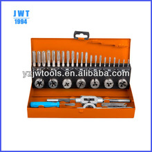 32-piece Taps and Dies Set, Available in Size of M3 to M12, Includes HSS Round Dies with different color box