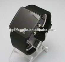 2012 Cool silicone led watches men steel can with your logo