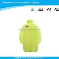 Cute Baymax cartoon character Silicone Case Cover for iphone 6