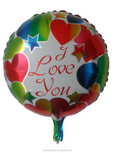 Colorful 18inches inflatation helium balloon,love balloon