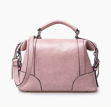 Wholesale exported Colorfull handbag/Greasy leather tote bag/Lovely totebag