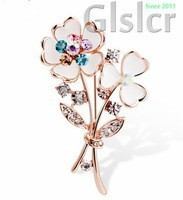 Limited - a limited-time promotion of sales of branded high - end brooch Korea crystal fashion flower corsage brooch refined dec