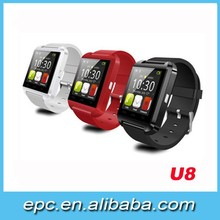 "Hot Selling and Popular Multi-Function SmartWatch U8 Watch 1.48""TFT LCD Capacitive touch screen 128*128"