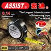 ABS+Metal Case Nylon Coated Blade Round Shape Pure Steel Measure Tape Machine black measuring tape
