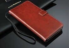 High quality leather flip cover case for htc desire 320 case