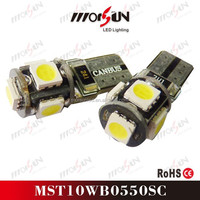 Factory Selling! 5SMD 5050 cancel car alarming system led SMD T10 canbus