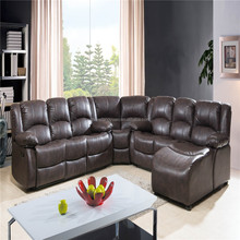 American style luxury bonded leather sofa living room furniture