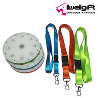 Ultra thin Round Plastic Portable Magnetic Solar LED Necklace FlashLight