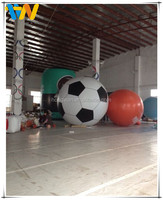 2.5m durable football shape PVC promotion advertising inflatable helium balloon