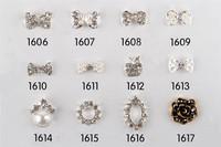 Wholesale acrylic flower alloy 3d nail art supplies nail charms #1148