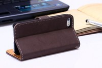 Leather Cell Phone Wallet Case Holder Vintage For Apple iPhone 5 5S