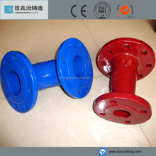 Epoxy blue flange tee approval ductile iron double flange elbow