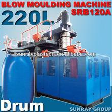 Extrusão máquina de moldagem por sopro 220 litros de plástico tambor