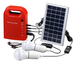 2015 New Arrival solar power system for home 3W with phone charge made in china