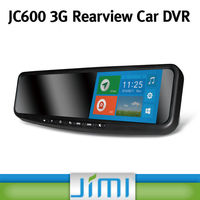 Newest android 4.2 car dvd with gps , HD 1080P car DVR rearview mirror with motion detection JC600