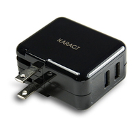 Dual usb smartphone cube charger