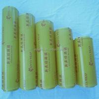 high quality pvc plastic cling film/food packaging custom-made width