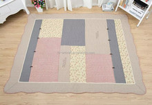 Hot selling100% cotton fashion design rubber floor mat for playground