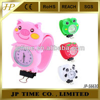 Wholesale cheap Jewelry coloful alloy silicone kids slap watches silicone watches