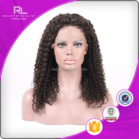 New stylish kinky curl lace front half wig