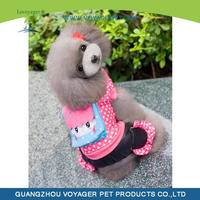 Lovely Big Face Oyster Soft Dog Hoodies with Pink Dot in the Sleeve Cap