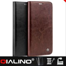 QIALINO Hot Quality Top Layer Leather Mobile Phone Leather Case For Samsung A8
