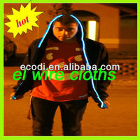 2013 Wholesale Alibaba Custom Design Cotton EL Wire hoodies,Plain el Hoodies,Sound Activated Hoodies/Light el hoody