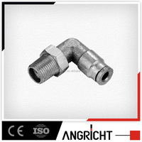 B104 China Supplier Angricht Pneumatic Brass Elbow Tube Connector Male Swivel Fittings